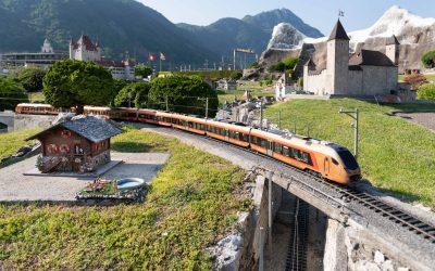 Il Voralpen-Express alla Swissminiatur