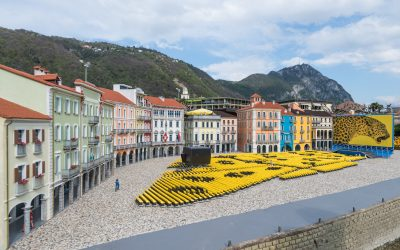 Piazza Grande and the Locarno Festival screen at Swissminiatur